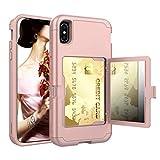 GODTOOK pour iPhone XS Max Plastique Dur TPU Silicone Cas Multifonctionnel Solide...