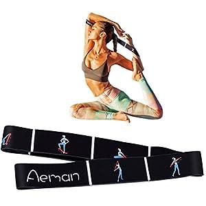 Aeman Fitness Stretch Band mit Schlaufen – Elastikband Übungsband für Yoga, Physiotherapie, Reha, Pilates – Gymnastik Trainingsbänder für Männer & Frauen