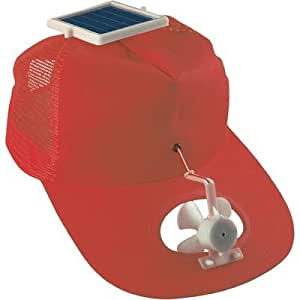 casquette ventilateur solaire rouge bricolage. Black Bedroom Furniture Sets. Home Design Ideas