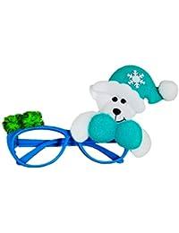 La Decoración de Navidad Marcos de espectáculo sin Lentes,Moon mood® Decoración de Navidad el párrafo oso Monturas de gafas de Navidad Christmas Glasses Frames Navidad de Productos básicos de la Decoración Fina de Navidad de la Familia Partido de la Barra