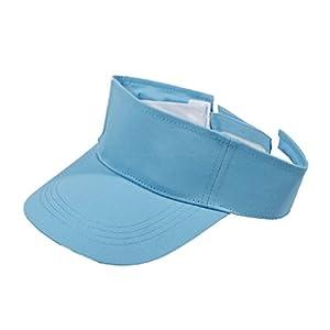 Butterme Adult Fest SommerHut Sport Tennis Golf Blank Sonnenschirmmütze mit verstellbarem Klettband