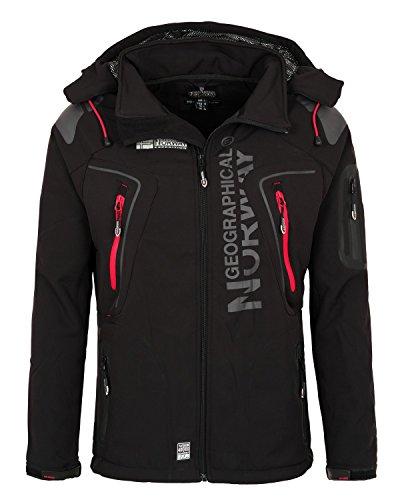 Herren Jacke (6K3 Geographical Norway Tambour Herren Softshell Jacke Outdoor Schwarz XL)