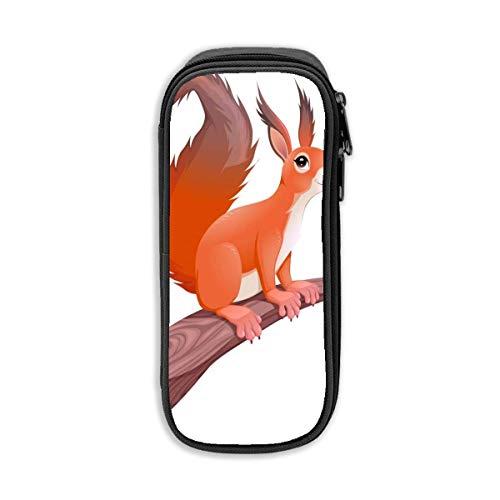 Federmäppchen Grafik beliebtes Eichhörnchen auf Ast Pen Box Stationery Pouch