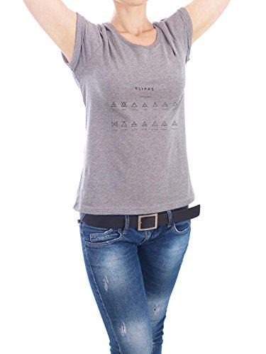 """Design T-Shirt Frauen Earth Positive """"Hipster-Triangles"""" - stylisches Shirt Geometrie von Anna Tverdostup Grau"""