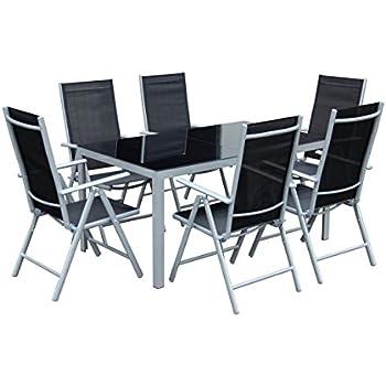 Amazon.de: 7teiliges Gartenmöbel-Set Gartengarnitur-Set GM7 Black