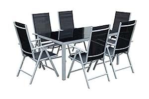 7teiliges gartenm bel set gartengarnitur set gm7 black. Black Bedroom Furniture Sets. Home Design Ideas