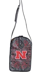 NCAA Nebraska Cornhuskers Women's Cross Body Purse, Black, One Size