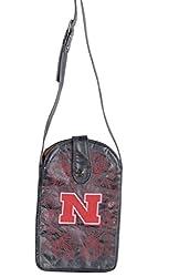 NCAA Nebraska Cornhuskers Women's Cross Body Purse, Black, One Size