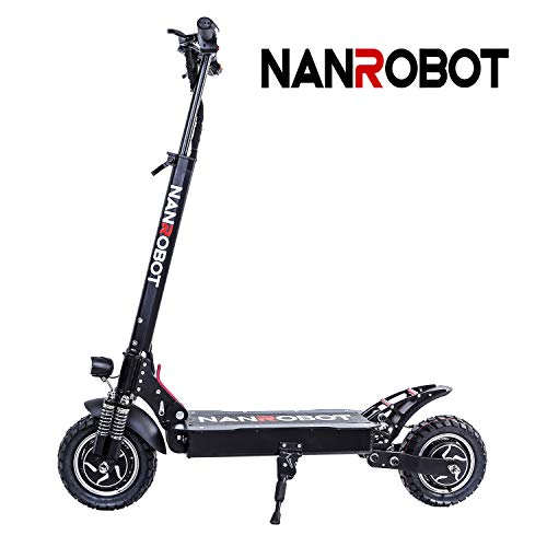 NANROBOT D4+ Adulte Scooter Pliable Trottinette électrique 52V 18AH Batterie Lithium Moteur Puissant de 2000W Vitesse maximale 65Km/h (D4+ Upgraded NO Seat(18AH))