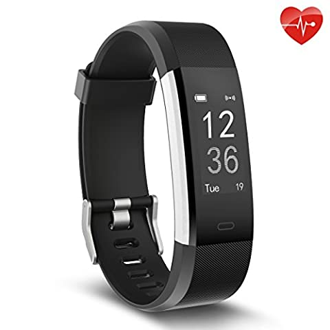Heart Rate Monitor, moreFit Slim HR Plus Waterproof Fitness Tracker Bluetooth Pedometer Smart Bracelet Wristband, Black