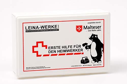 LEINA-WERKE 51000 Heimwerker Erste-Hilfe-Kit, Weiß, 255 x 166 x 80 mm