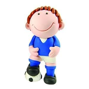 Creative Party Blue Footballer Cake Topper