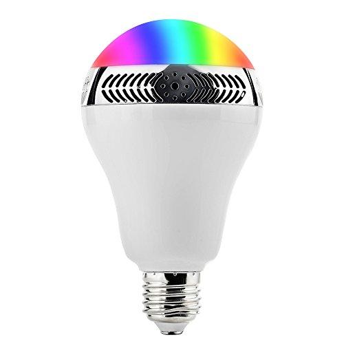 Bombilla LED Bluetooth GrandBeing, Bombilla de Luz LED con Altavoz Inteligente Bluetooth 4.0 Inalámbrica, Bajo Consumo, con App Gratuita Controlada Compartible con iPhone, iPad y Smartphones Android