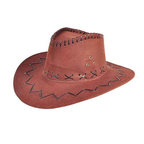 Black Temptation Niños Sombrero de Vaquero niños Traje Sombreros Sombrero de Fiesta-Marrón