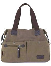 aimerfeel fabulosa gran bolsa de mezclilla pantalla de color negro, gris, verde y beige