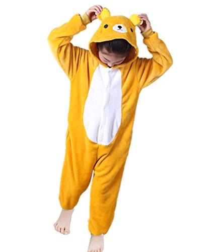 ma Strampler Schlafanzug Tier Kostüm für Halloween Karneval Fasching, Bär Kostüm, Gr. 116/122 (Herstellergröße 105) (Bär Kostüm Für Halloween)