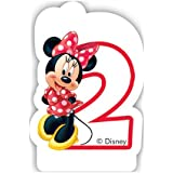Café Disney Minnie Mouse 2nd Birthday Candle
