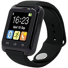 MallTEK Versión Actualizada Smartwatch Android Bluetooth 3.0 Smart Watch Band Smart Pulsera con pantalla táctil de 1,44 Smart Watch Sportif con Múltiples Idiomas Soporte de Smartphone Android Incluyendo HUAWEI, SAMSUNG, Gala HTC, SONY etc. (Negro)