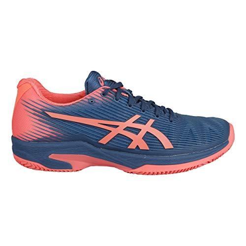 ASICS Donna Solution Speed FF Clay Scarpe da Tennis Scarpa per Terra Rossa Blu Scuro - Corallo 42