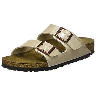 Birkenstock Arizona, Women's Open Toe Sandals Open Toe Sandals, White (Graceful Pearl White Graceful Pearl White), 40 EU, 7 UK