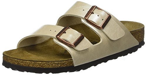Birkenstock arizona, sandali a punta aperta donna, bianco graceful pearl white, 37 eu