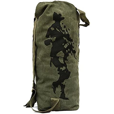 MaMaison007 Soldado libre montanismo al aire libre mochila mochila lona escalada viajes Bolsa -S