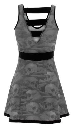 PENNY kreepsville 666 dRESS robe sKULL pILE Noir - Noir