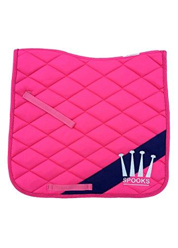 SPOOKS Schabracke Dressage Pad Diagonal pink/navy