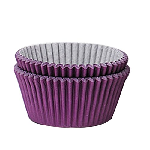 100Farbe Papier Kuchen Cupcake Liner Fall Party Backen Muffin Cup CAS, violett, Einheitsgröße (Kleine Lebensmittel-dampfgarer)