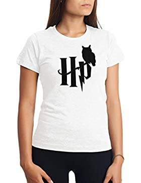 CHILLTEE Cool Harry Potter Style Owl Logo Camiseta Para Mujer