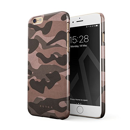 BURGA iPhone 6 / 6s Hülle, Rosa Pink Camo Camouflage Tarnung Muster Dünn, Robuste Rückschale aus Kunststoff Für iPhone 6 / 6s Handyhülle Schutz Case Cover (Kunststoff-militärs)