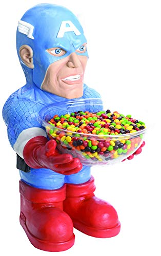 Party Palast - Captain Amercia Figur als Candy Bowl Holder Süßigkeiten-Halter, Dekoration Deko , ideal für Jede Halloween Party / Feier, Blau (Teen Thor Kostüm)