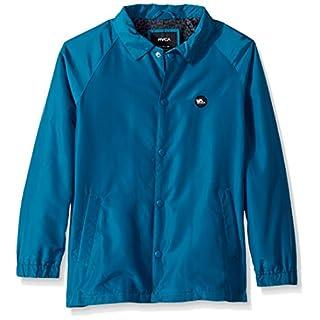 RVCA Boys' ATW II Coaches Jacket Windbreaker, Teal, Medium