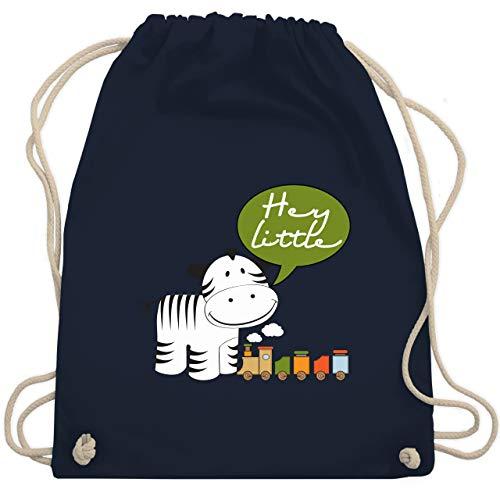 Tiermotive Kind - Hey little neutral Zebra Zug - Unisize - Navy Blau - WM110 - Turnbeutel & Gym Bag -