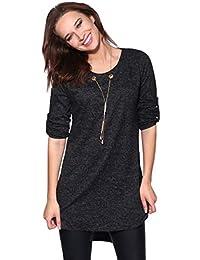 5b68928eabad46 KRISP® Women Ladies Fluffy Knit Oversized Long Hi Low Sweater Tunic Top  Jumper Dress