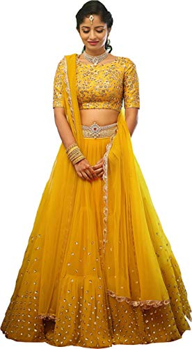 ShreeBalaji Sequence and Embroidary Semi Stitched lehengas, lehenga choli (SBE-06,FreeSize)