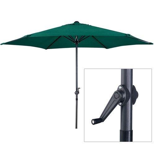 Gardensity Parasol 2.7m Steel Metal Powder Coated Garden Furniture Parasol With Winding Crank & Tilt Function (Green)