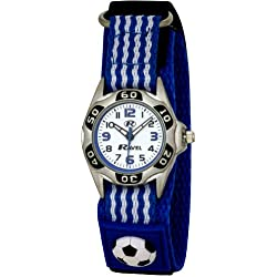 Ravel Children's Blue And White Football Strap Watch