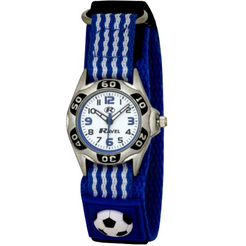 Ravel Childrens Blue And White Football Strap Watch