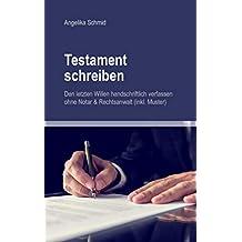 Suchergebnis Auf Amazonde Für Testament Vorlage Bücher