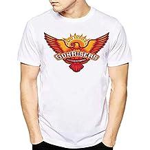 grean Polyester Half Sleeve Round/Crew Trending Neck Men's White Printed T-Shirt: Sunrisers Hyderabad