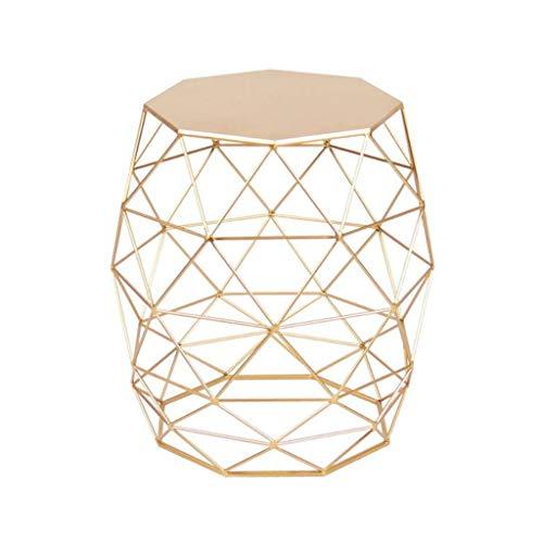 Dsrgwe Beistelltisch, Runde Sofa-Beistelltische Couchtische Small End Tables Tee-Tabellen-Verschachtelungs-Tabellen für Innenministerium (Color : Gold) -