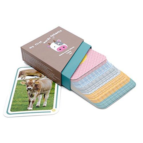 Kakaduu - Lernspiel: 50 Bildkarten mit Tiermotiven: Fotokarten (meine ersten Worte TIERE). Lernspielzeug für Babys und Kleinkinder zur Förderung des Grundwortschatzes. (Baby-flash-karten Worte)