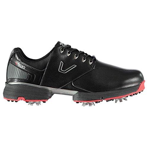 Slazenger Herren V300 Golfschuhe Soft Spikes Schwarz 45