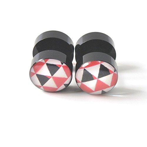 Vcmart piercing oreille motifs multiples original faux plug écarteur tunnel acrylique bijou de corps femme triangle