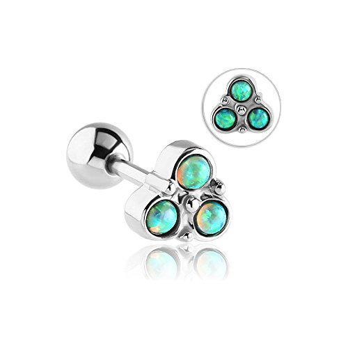 acero-quirurgico-opal-jewelled-trinidad-barbell-verde