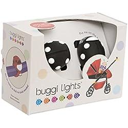 Hippychick Buggi Lumière de Poussette Noir avec Taches Blanches