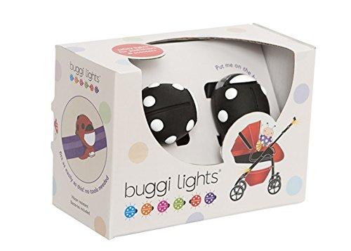 Buggi Lights BUGGIBWS Kinderwagenlicht schwarz mit weißen Flecken