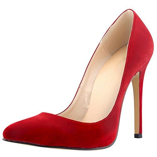 OCHENTA - Sandali con Zeppa donna Rosso (rosso)