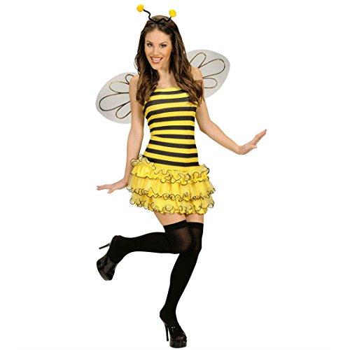 NET TOYS Sexy Kostüm Biene Bienenkostüm Tierkostüm Fasching Karneval Hummel Damenkostüm Damen Gr M 38/40